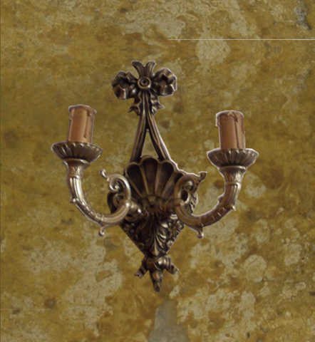 Handmade bronze wall sconce2