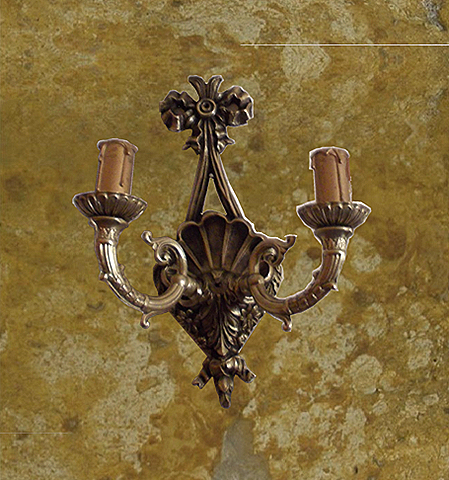 2 lights bronze wall sconce
