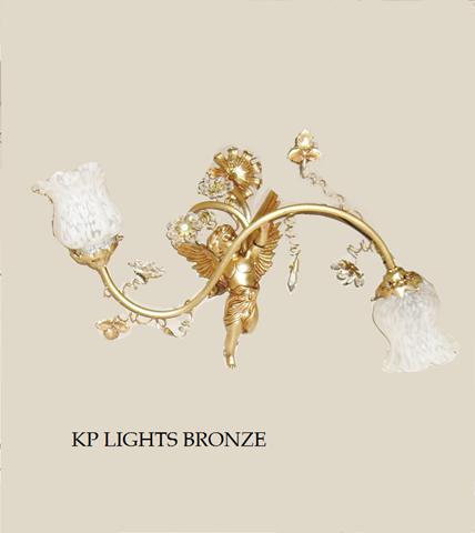 2 φωτο 1022/2 kp lights bronze