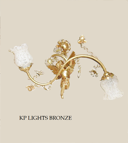 2 φωτο 1022/2 kp lights bronze